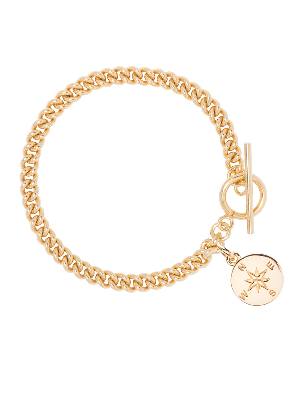TILLY SVEAAS CURB LINK BRACELET WITH COMPASS