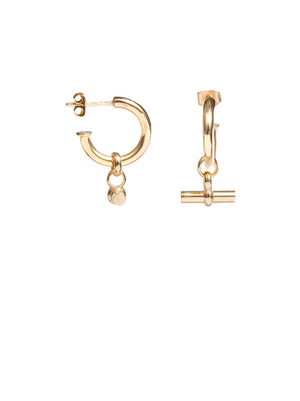 TILLY SVEAAS SMALL T-BAR EARRINGS