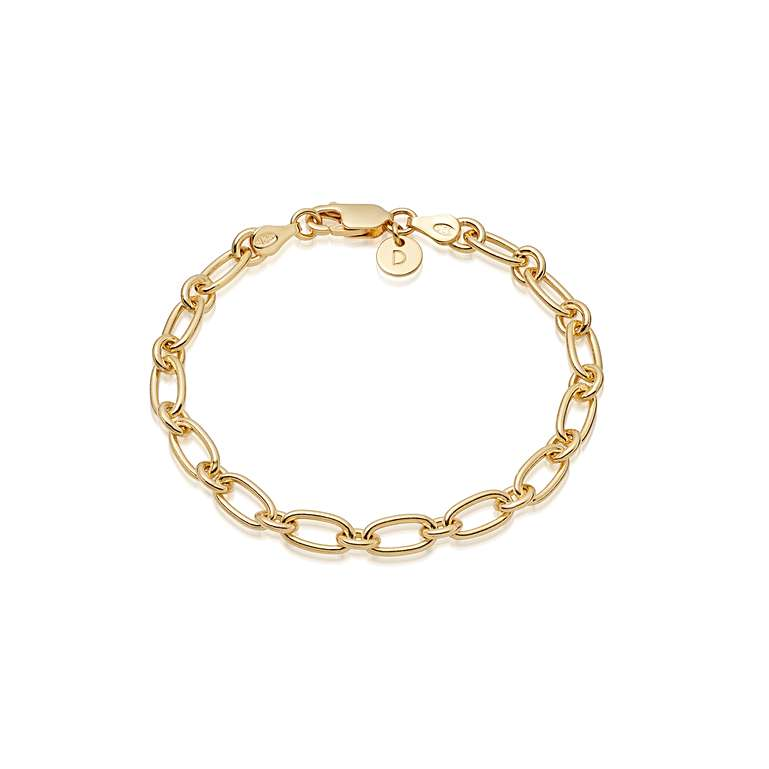 DAISY LONDON STACKED LINKED CHAIN BRACELET