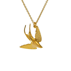 ALEX MONROE SWOOPING SWALLOW NECKLACE