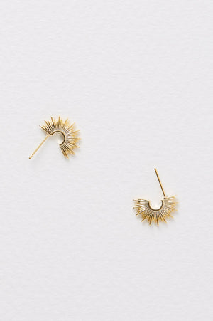 ESTELLA BARTLETT SUNBURST HOOP EARRINGS