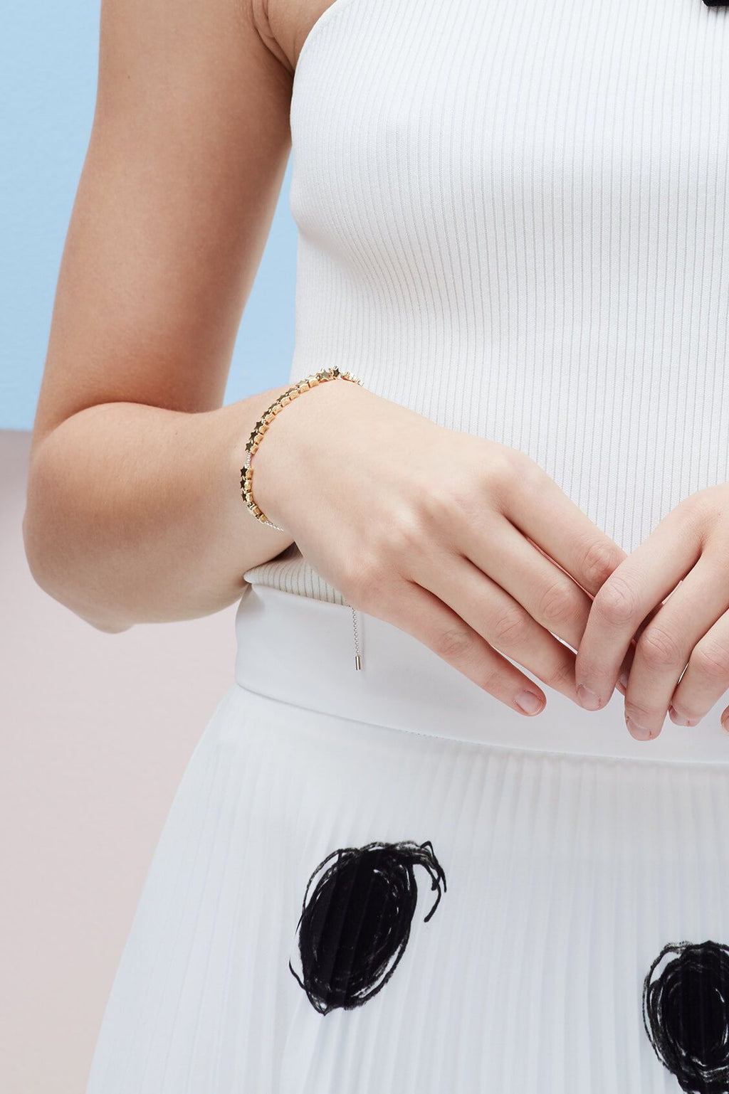 ESTELLA BARTLETT STARS SO BRIGHT GOLD SLIDER BRACELET