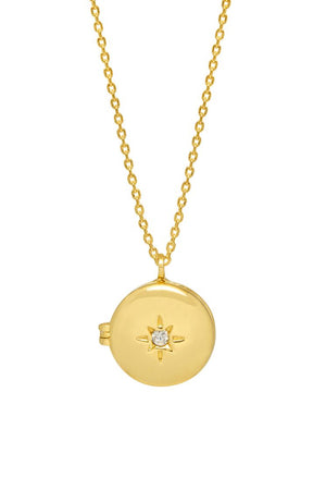 ESTELLA BARTLETT CZ LOCKET NECKLACE