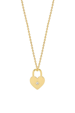 ESTELLA BARTLETT HEART PADLOCK NECKLACE