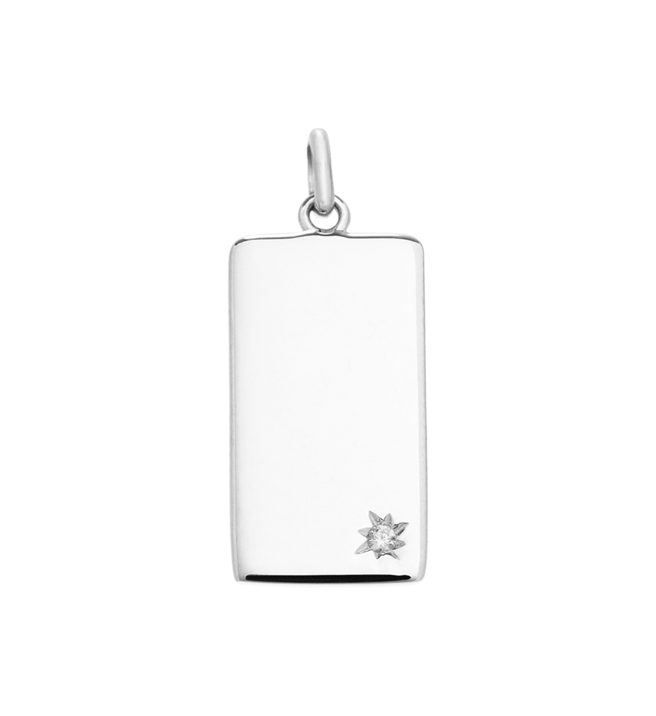 KIRSTIN ASH SILVER RECTANGLE CHARM