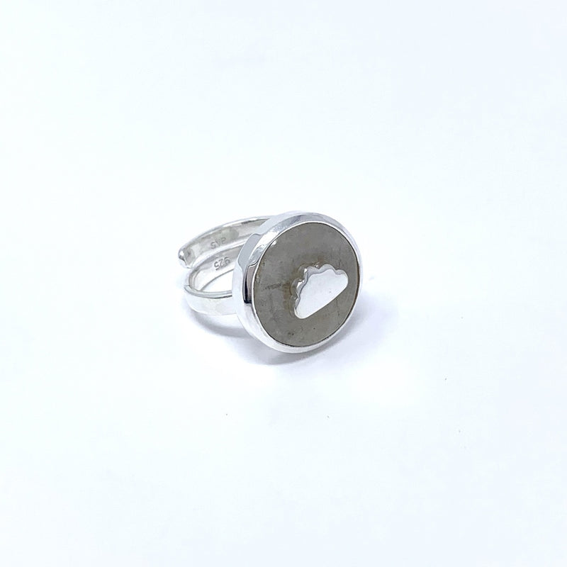 SVP X LAST NIGHT I DREAMT EXCLUSIVE DREAM CLOUD RAINBOW MOONSTONE ADJUSTABLE RING
