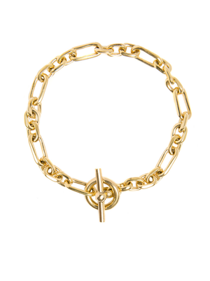 TILLY SVEAAS SMALL GOLD WATCH CHAIN BRACELET