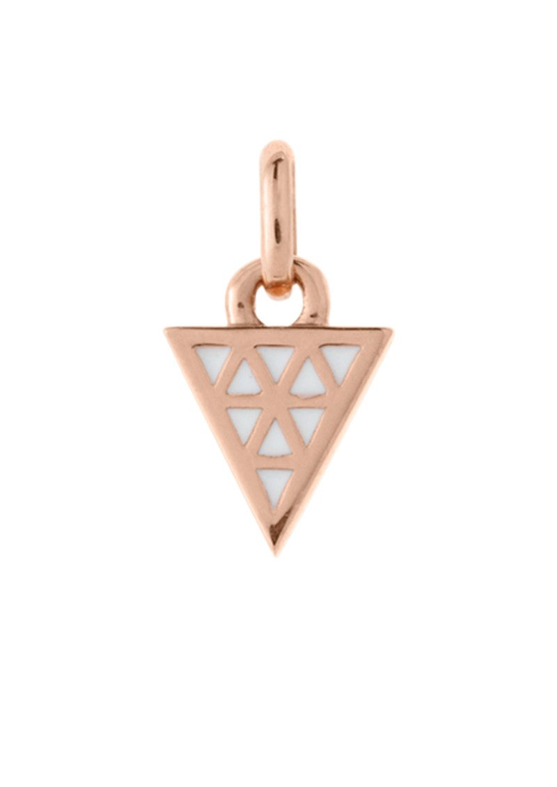 KIRSTIN ASH ROSE GOLD ENAMEL TRIANGLE CHARM