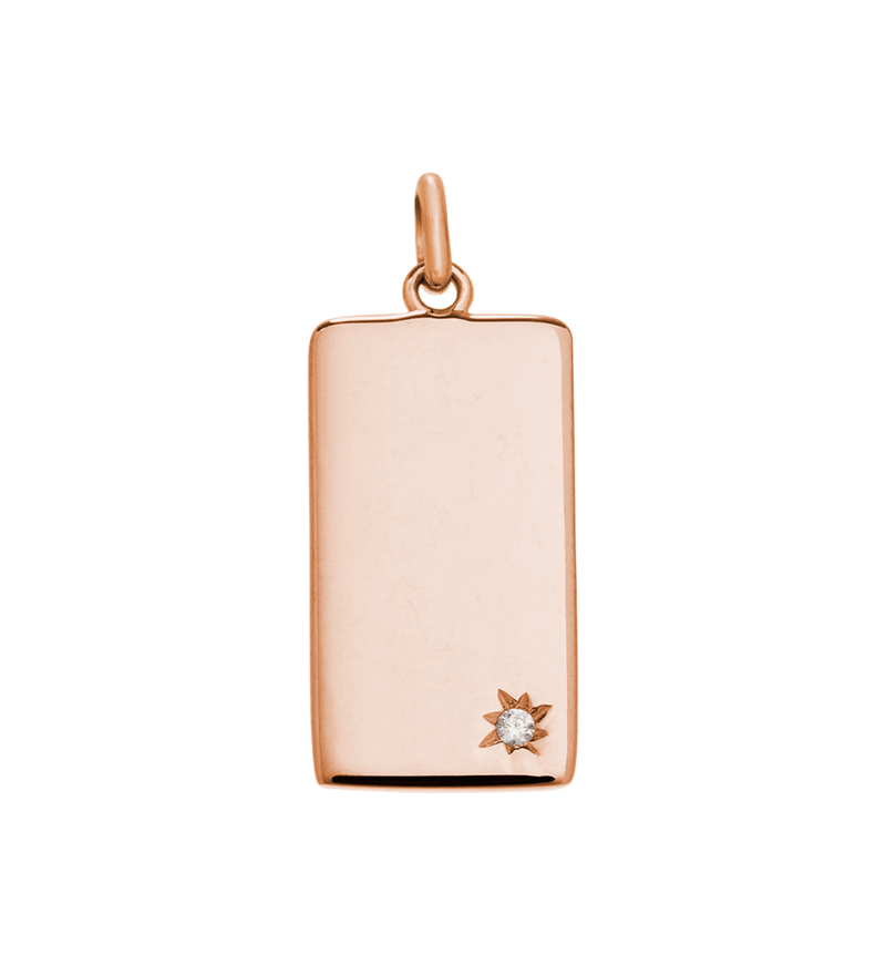 KIRSTIN ASH ROSE GOLD RECTANGLE CHARM
