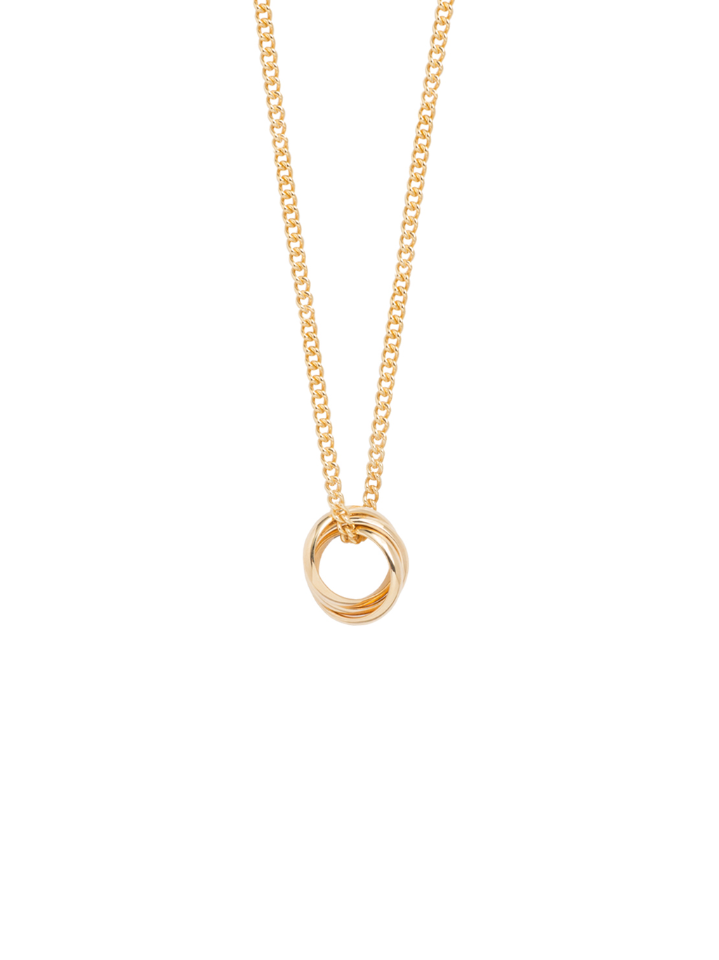 TILLY SVEAAS TINY RUSSIAN WEDDING RING NECKLACE ON CURB CHAIN