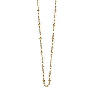 "KIRSTIN ASH GOLD 16-18"" BALL CHAIN"