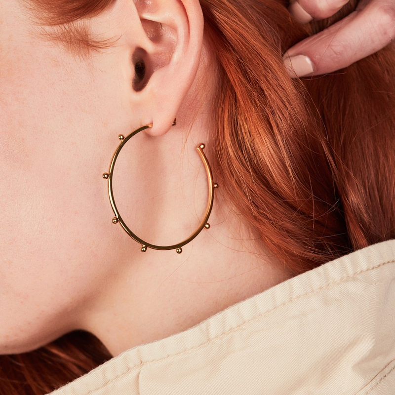 RACHEL JACKSON OVERSIZED PUNK HOOP EARRINGS