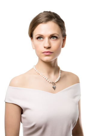CLAUDIA BRADBY SIGNATURE HEART WHITE PEARL NECKLACE
