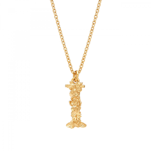 ALEX MONROE GOLD FLORAL LETTER NECKLACE