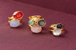 SVP RAINBOW MOONSTONE ATOMIC MIDI ADJUSTABLE RING