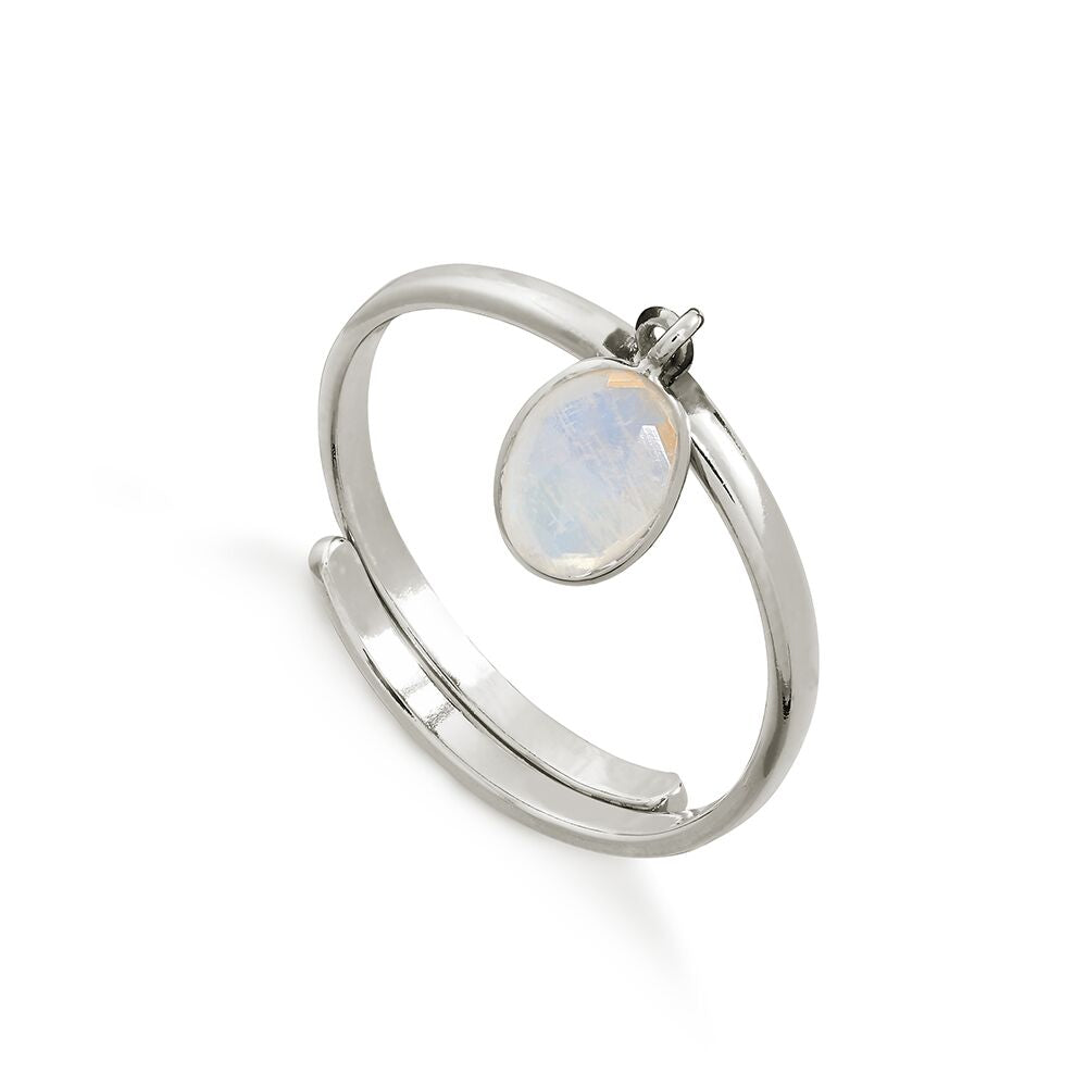SVP RAINBOW MOONSTONE RIO ADJUSTABLE RING