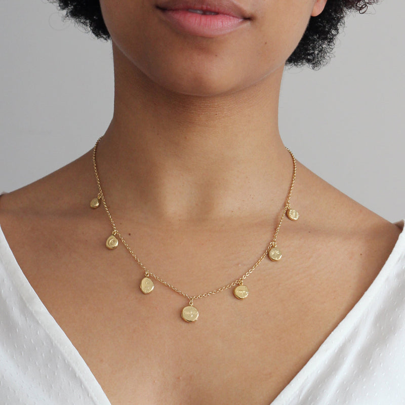 ALEX MONROE PALEONTOLOGY NUGGET NECKLACE