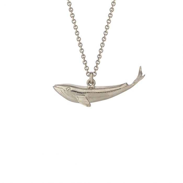 ALEX MONROE BABY BLUE WHALE NECKLACE
