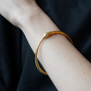 RACHEL ENTWISTLE OUROBOROS SNAKE BANGLE