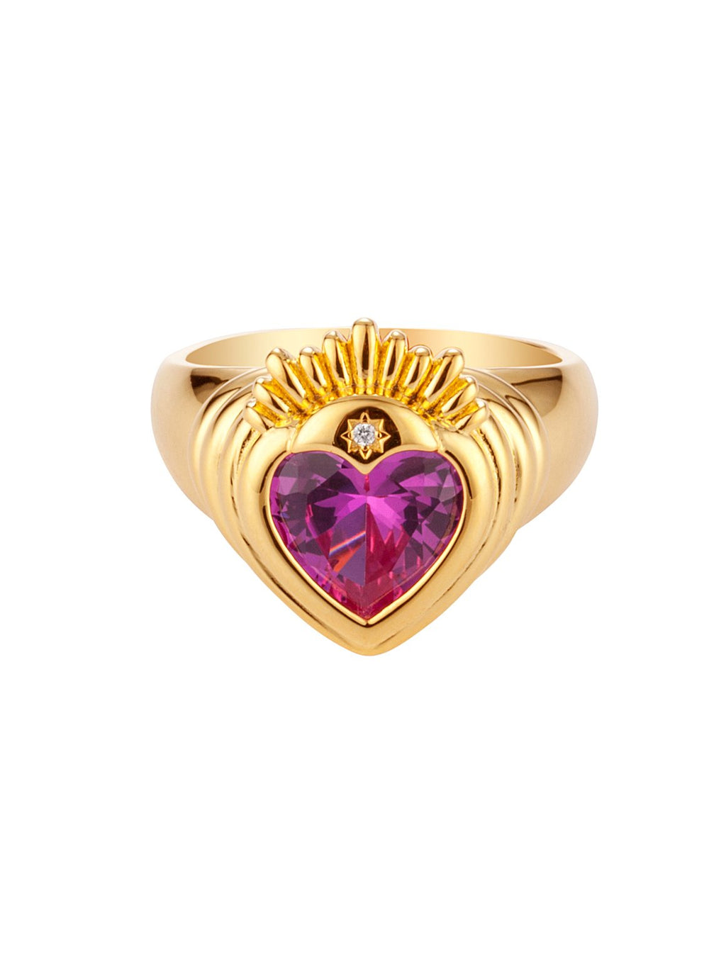 JULY CHILD QUEEN OF HEARTS RING