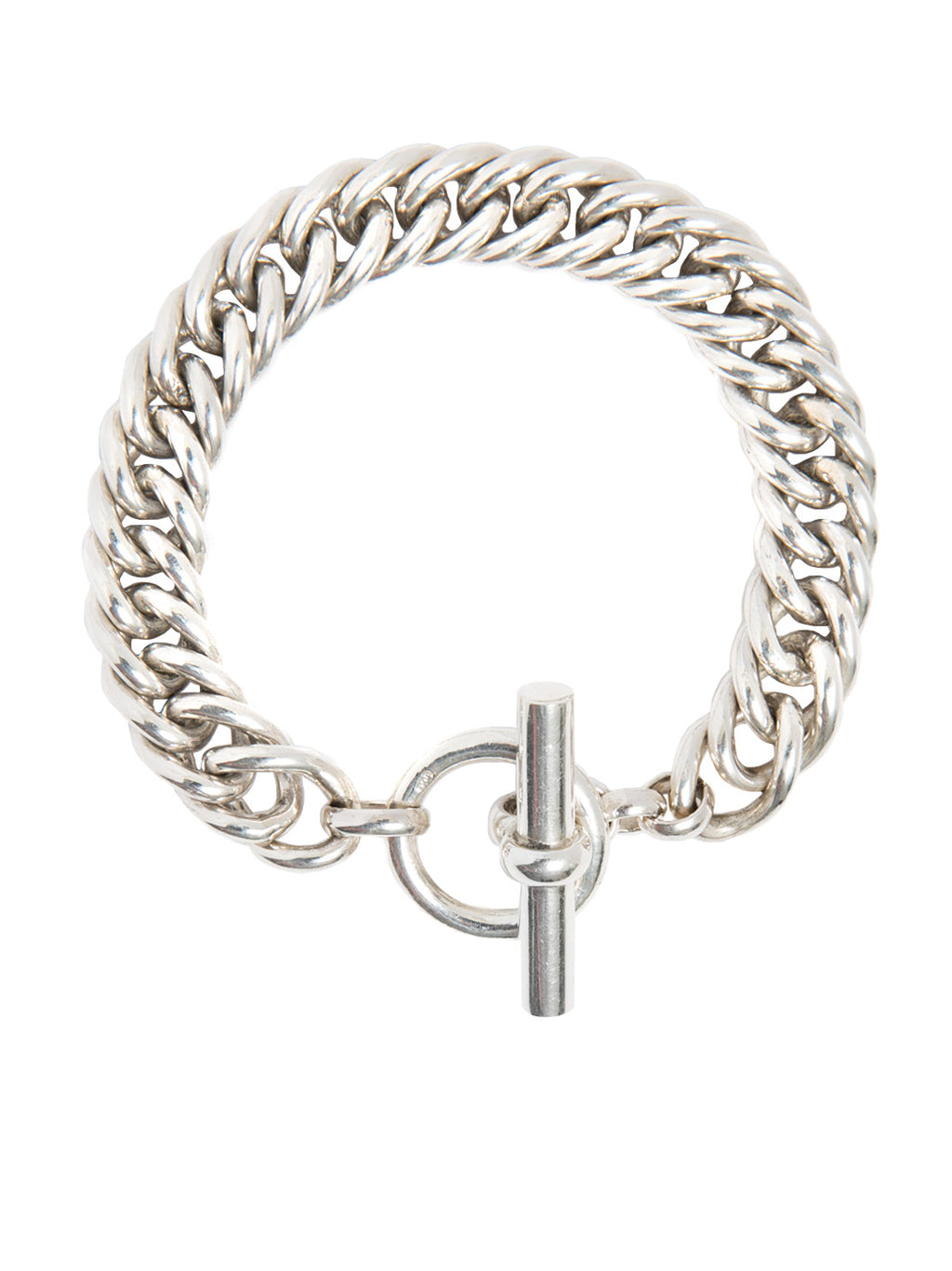 TILLY SVEAAS LARGE SILVER CURB CHAIN BRACELET
