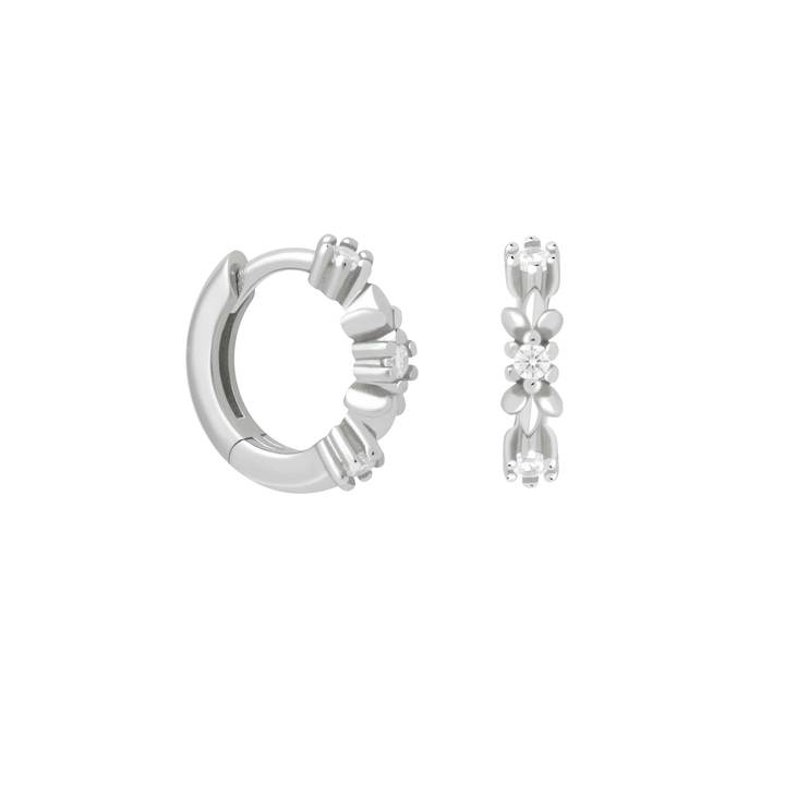 ASTRID & MIYU WREATH CRYSTAL HUGGIE EARRINGS