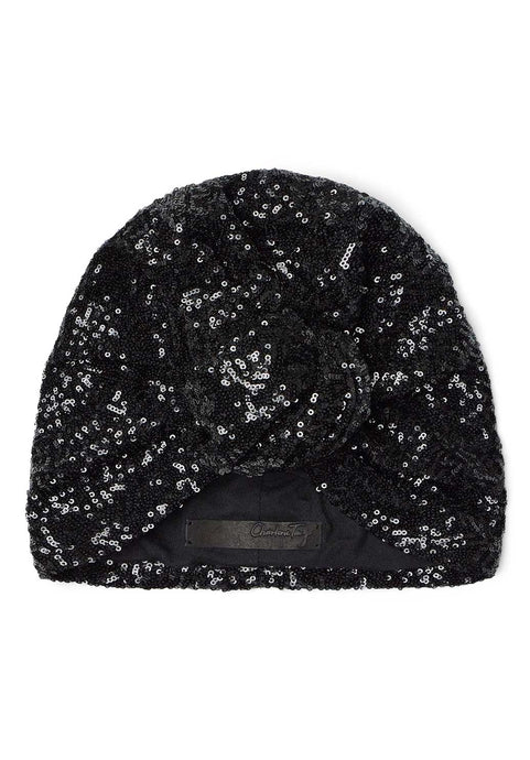 Black Sequin Turban