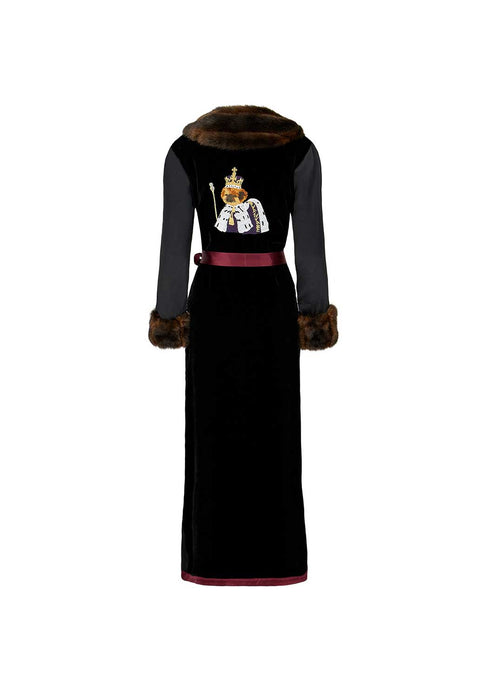 King Bobi - Burgundy Robe - Faux Fur