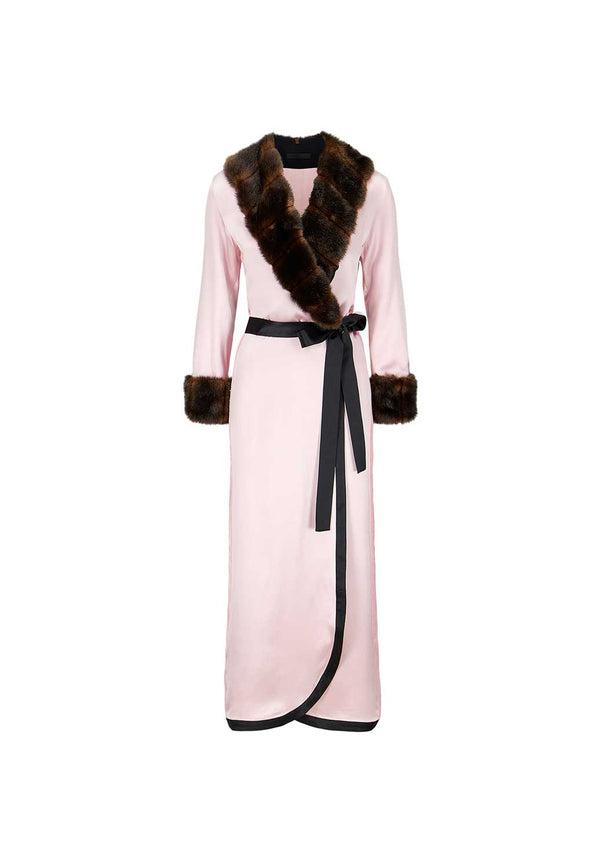 King Bobi - Pink Robe - Faux Fur
