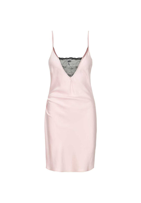 Washed Pink Silk Slip Dress