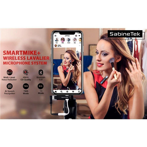 SabineTek SmartMike+ Ultra-Compact Wireless Bluetooth Lavalier Microphone