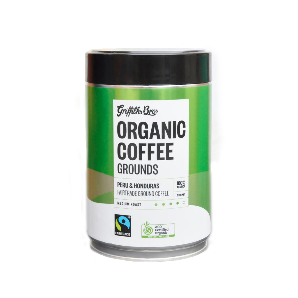 Organic Fairtrade Coffee Grounds Peru and Honduras Blend 250g