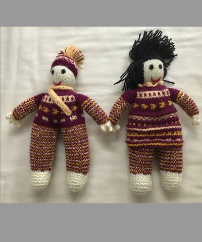 Stuffed Hand Knitted Woollen Soft Toys (Gudda Guddi) Set of 4