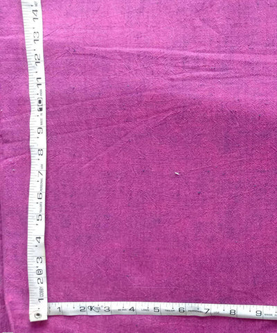 pink yarn dyed handspun handwoven cotton kurta fabric