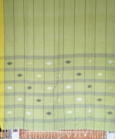 Bengal Light Green Cotton Handwoven Saree