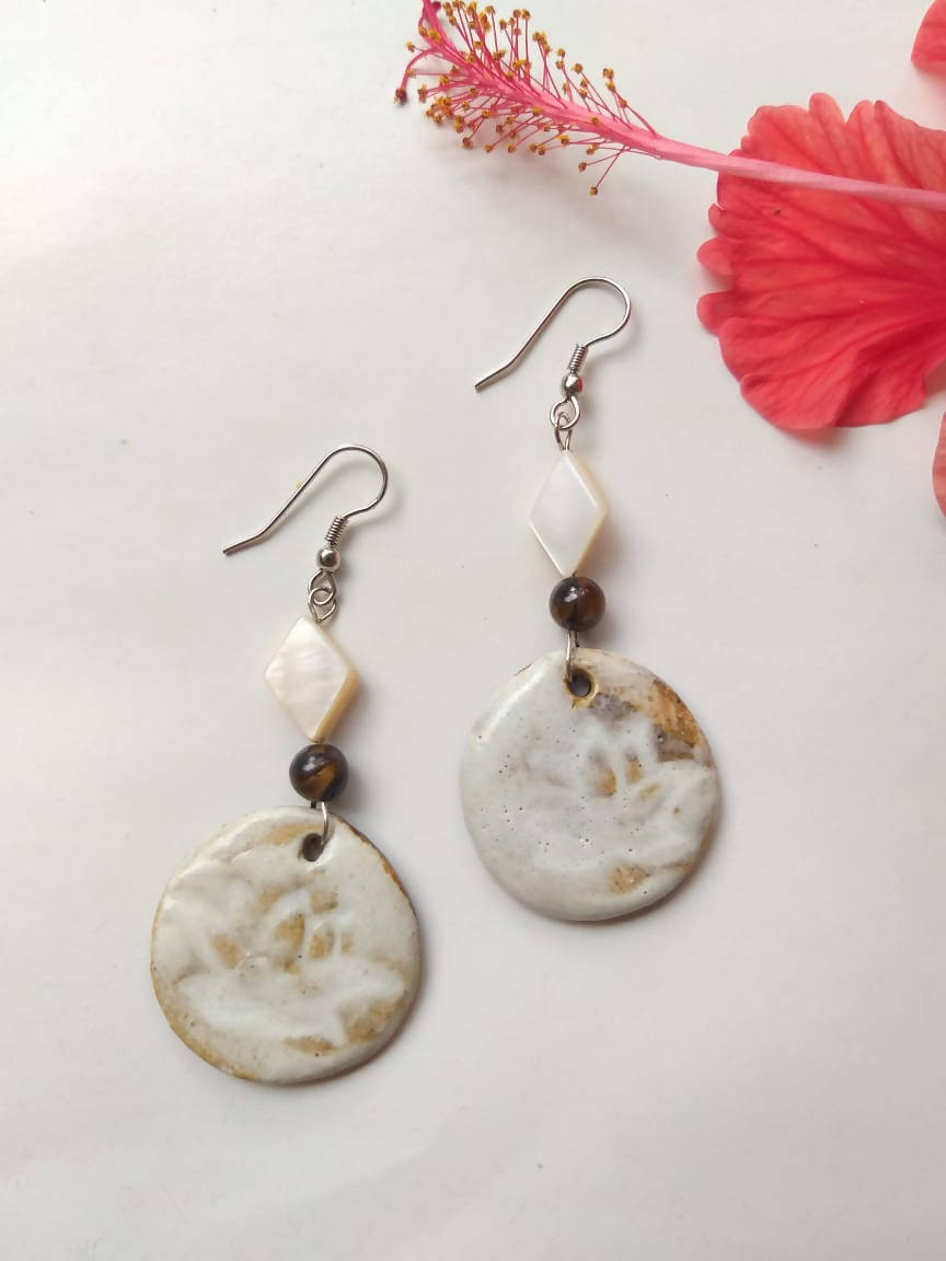Long White Ceramic Dangler