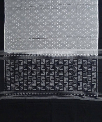 Light Grey Sambalpuri Handloom Cotton Dupatta