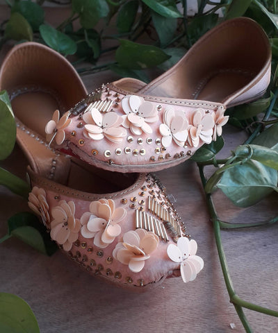 ROSE PROPOSE Peach Handcrafted Jutti