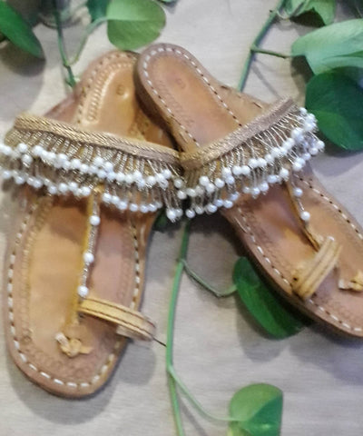 PEARL COLLECTION Handcrafted Kolhapuris