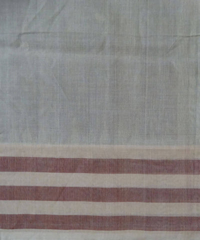 Maroon Handwoven Bomkai cotton Saree