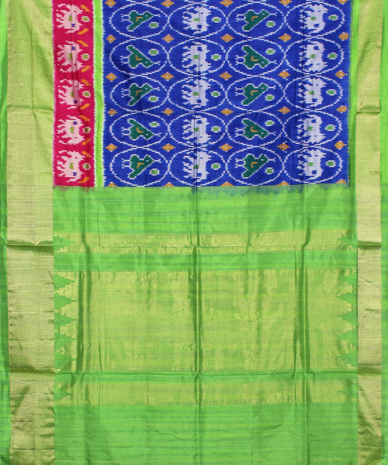 Blue Green Handloom Pochampally Silk Saree