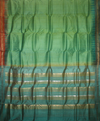 Handwoven Tussar Silk Saree of Gopalpur in Green