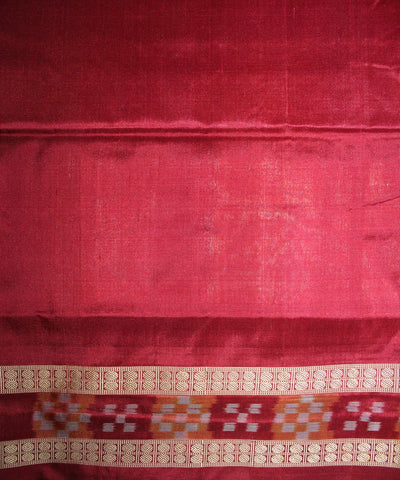 Handwoven Bomkai Silk Saree of Sonepur in Purple and Maroon