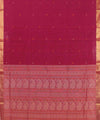 Magenta Pink Handwoven Kanchi Cotton Saree