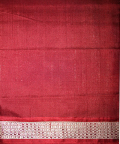 Handwoven Sambalpuri Ikat Silk Saree in Black and Maroon