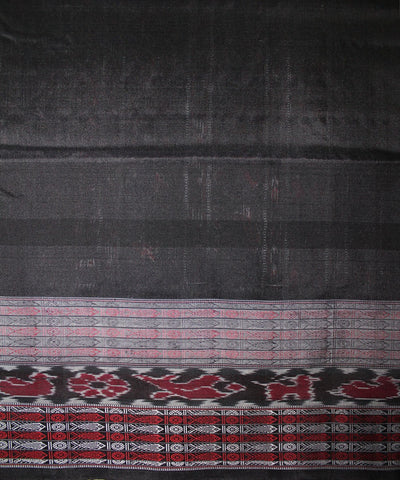 Handwoven Bichitrapuri Silk Saree in White and Black