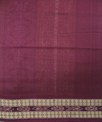 Handwoven Bomkai Cotton Saree in Black and Maroon