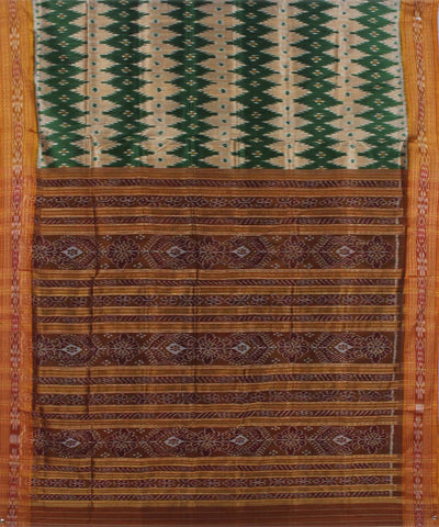 Green Maroon Handloom Khandua Silk Saree