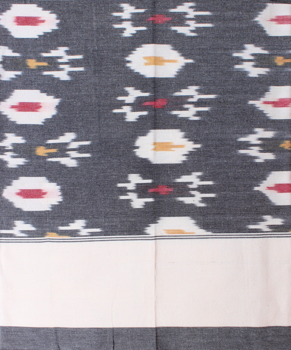 Greyish Handloom Ikat Single Bedsheet