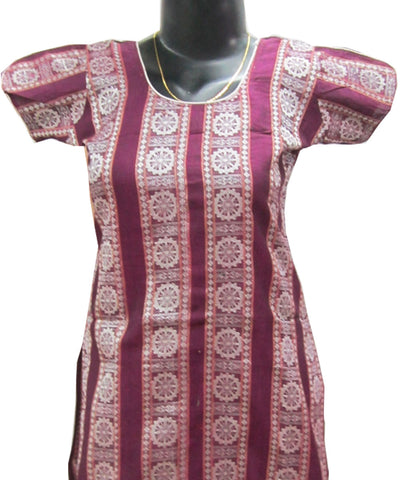 Purple and Silver Kurti